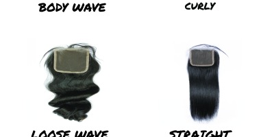 Lace closure bases and textures