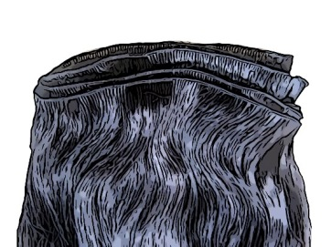 Add extra hair weft to the nape of the neck to give weight and fullness.