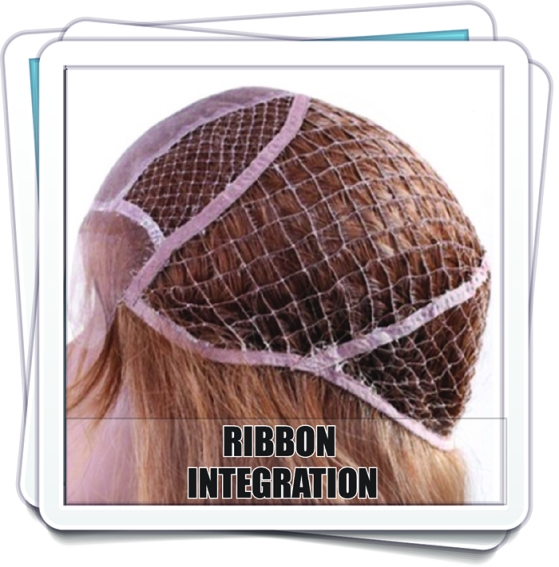 Ribbon, Hair Integration System, Unit, Hairpiece, honeycomb, fish net, honey comb, wigs, pull through, custom, wigmaker, wig making, wigs, service, fuller hair, thinning hair